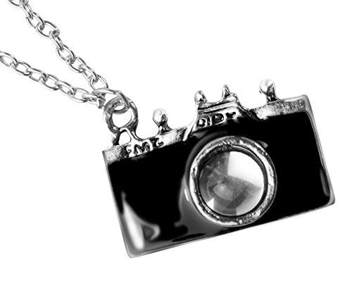 New Retro Camera Photographer Necklace in Black