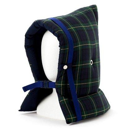 防災頭巾 子供用 タータンチェック・ダークグリーン N4438400
