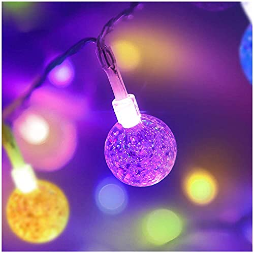 LED イルミネーションライト ストリングライト 16色変化 8M60電球 IP67防水 夜間自動点灯 リモコン付き クリスマス飾り ハロウィン/パーティー/バレンタインデー/お正月/祝日/結婚式/学園祭屋/ガーデン/花火会 (カラー)