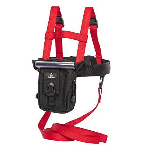 Little Llama Children Snowboard Ski Leash: Training Harness for Kids to Learn to Ski Safely w/Detachable Pouch
