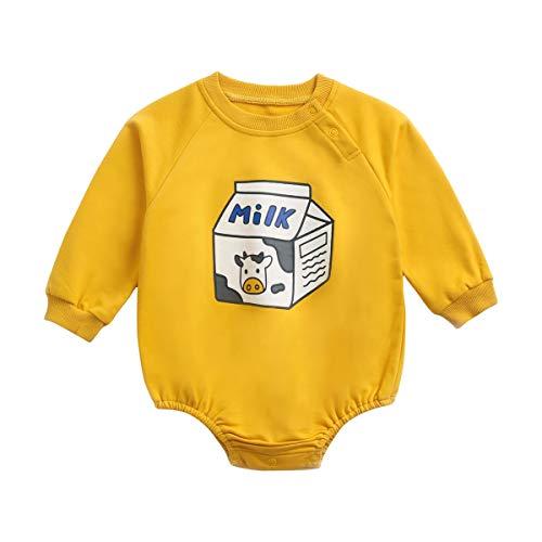 UMore Body Bebé Personalizado Regalos Personalizados para Bebés Bodies Personalizados Manga Larga Varias Tallas Body para Bebé Niño Niña Algodón 100%