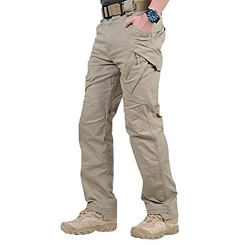 Fanville - Pantalón de trabajo, tipo cargo, para hombre, con bolsillos, ancho, resistente, fácil de lavar