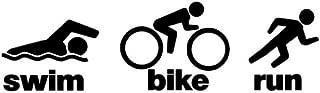 Lucidchaos Graphics Triathlon - Swim Bike Run Decal Sticker - Size:3.0 x 10.3 inches - Color:Black