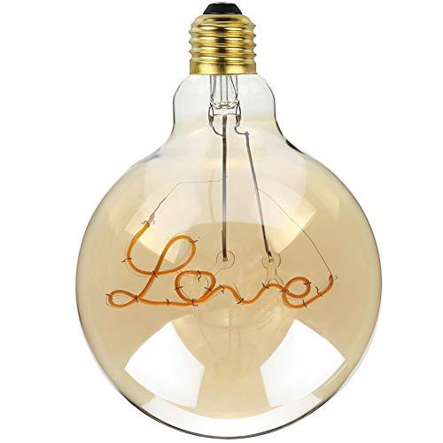 LED Lampe Edison Vintage Glühbirne Valentinstag E27 4W 220V Retro Glühbirne Antike Glühbirne für Retro Beleuchtung im Haus Café Bar Restaurant