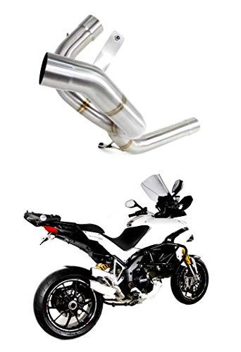 MULTISTRADA 1200 Tubo Elimina Catalizzatore, Decatalizzatore, No-Kat, Mid Pipe Inox DE-Cat DECAT Dominator Exhaust Terminale di Scarico Silenziatore 2010 2011 2012 2013 2014