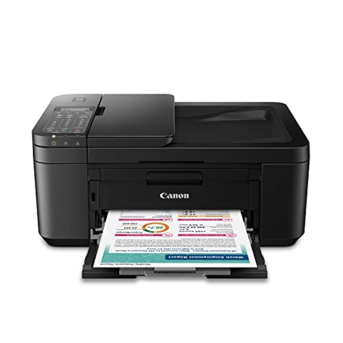 Canon PIXMA TR4720 All-in-One Wireless Printer for Home use, with Auto Document Feeder, Mobile Printing and Built-in Fax, Black