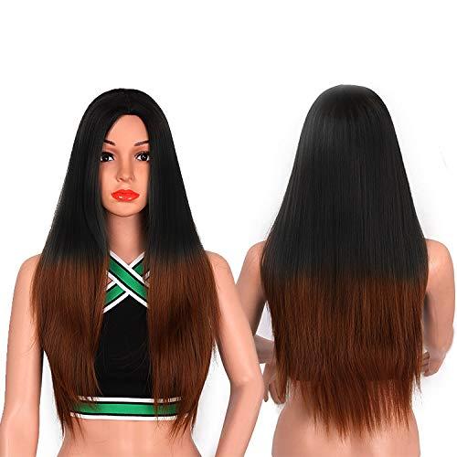 Rapidsflow® Full Head Synthetic Women Wigs Long Hair For Women/Women Wigs Natural Hair Black (FREE WIG CAP 1PC) (Black Ombre)
