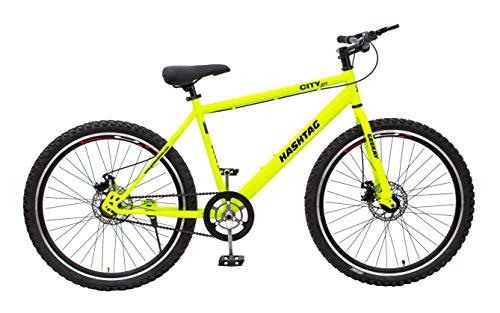 Geekay Hashtag Steel 26 Inch Single Speed Mountain Bike - 18 Frame, Green