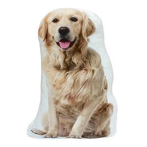 Golden Retriever Dog Stuffed Shaped Throw Pillow Decor Gift