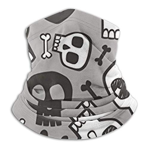 ULNIKU-T Cráneos y huesos de Halloween protección solar resistente al viento, unisex, sin costuras, banda, tubo para la cabeza, banda, protección UV, polaina para el cuello, bufanda facial