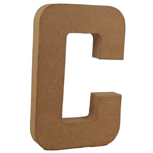 Country Love Crafts Pappmach/é-Dekoelement 3D Buchstabe L 20,5/cm Pappmach/é