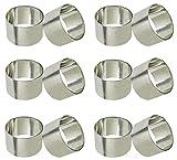 SKAVIJ Silber Metall Solide Serviettenring-Set für Esstischdekoration (12 stück)