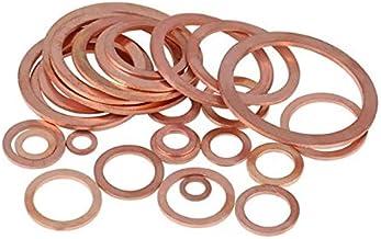 10-50pcs Good wear Resistance Bclla Zkenshan-washers Solid Copper Washer Shim Flat Ring Gasket Rings Seal Plain Spacer Washers Fastener M5 M6 M8 M10 M12 M14 M16 M18 M20 M22