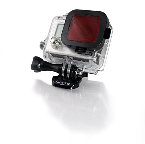 GoScope (60M) Red Filter - Compatible with GOPRO HERO4 / HERO3+ / HERO3 Dive HOUSING (60M Case Only) Laser Cut Optical Red Filter {See Pictures to Make Sure This FITS Your Camera CASE}