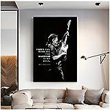 yhyxll Bruce Springsteen Poster Leinwand Malerei Wandkunst