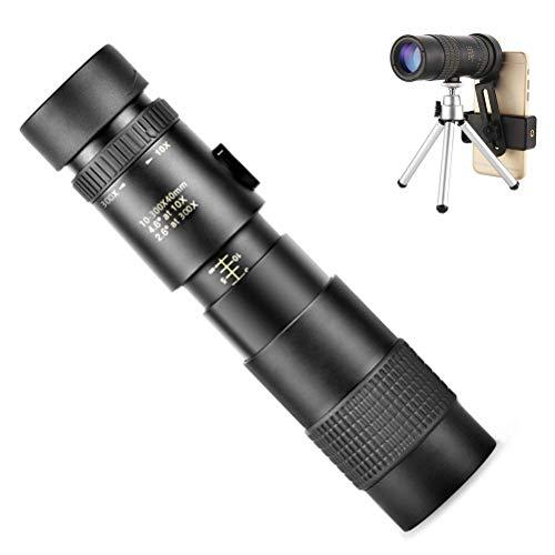 AIJIANG Telescopio monocular de alta definición y soporte rápido para smartphone, zoom 10-300 x 40 mm para tiro de objetivo, observación de pájaros, caza, escenarios silvestres