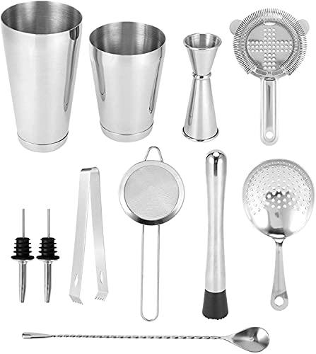 Ruixing Barzubehör Cocktail Tool, 11 Stück/Set Cocktail Shaker Kit, Cocktail Mixer, für Home Bar