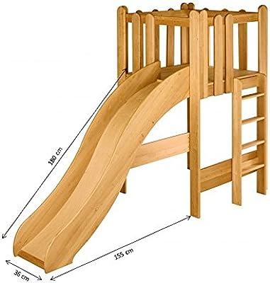 BioKinder 22735 Ahorro Conjunto: cama Noah con la torre y tobogán. Aliso Biológica