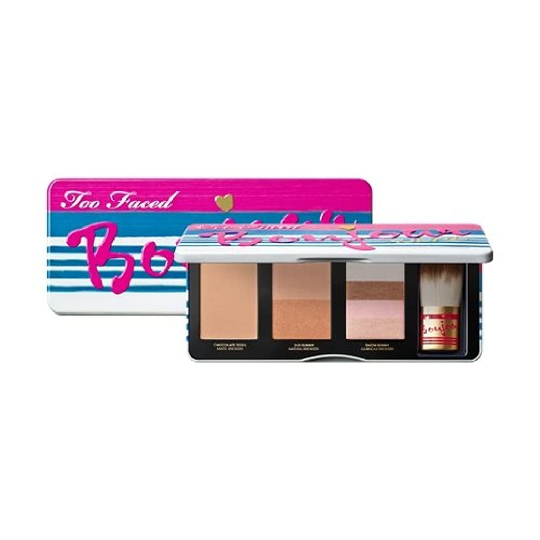 順応性のある白雪姫事実Too Faced Bonjour Soleil Limited Edition Summer Bronzing Wardrobe Eyes and Face Make Up Palette [並行輸入品]