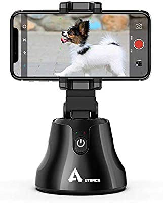Selfie Stick 360 Rotation Auto Face Tracking Object Tracking Live Streaming Phone Mount Holder,Intelligent Following Pivo Camera Mount,Video Recording Smart Tracking Selfie Phone Tripod for All Phones from AUTORCH