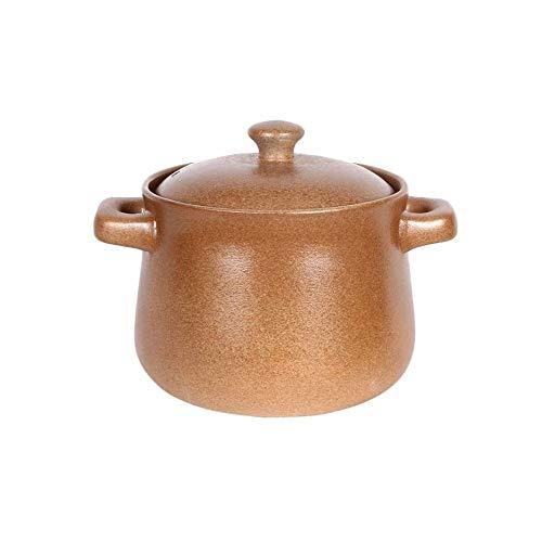 XIXIDIAN Stockpot de cerámica, Olla de arroz de cerámica Tradicional con Tapa.