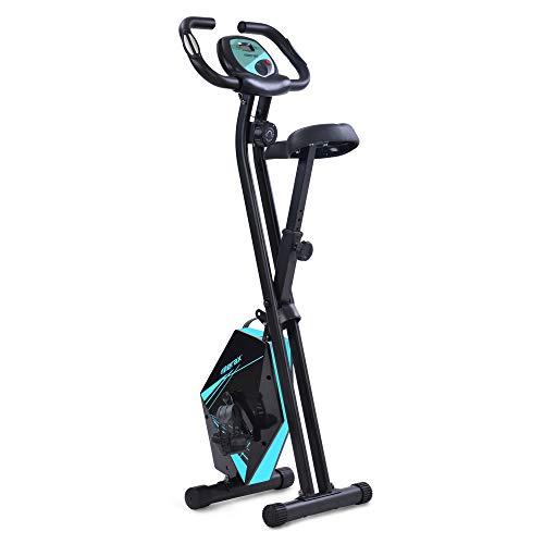T-Day Bicicleta Estáticas Ejercicio Bicicleta Plegable Interior Gimnasio En Posición Vertical Gimnasio Ciclo Y Entrenador Plegable para El Entrenamiento Casero Y Cardio