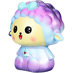 Clearance! Stress Reliever Toys, huichang 18cm Squishy Jumbo Big Galaxy Sheep Slow Rising Cream Scented Cure Toys:Btc4you