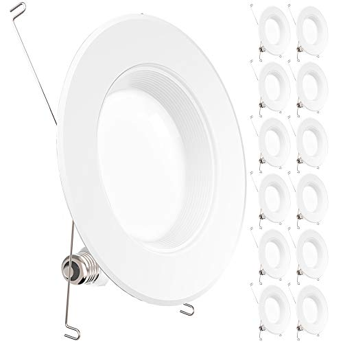 Sunco Lighting 12 Pack 5/6 Inch LED Recessed Downlight, Baffle Trim, Dimmable, 13W=75W, 3000K Warm White, 965 LM, Damp Rated, Simple Retrofit Installation - UL + Energy Star