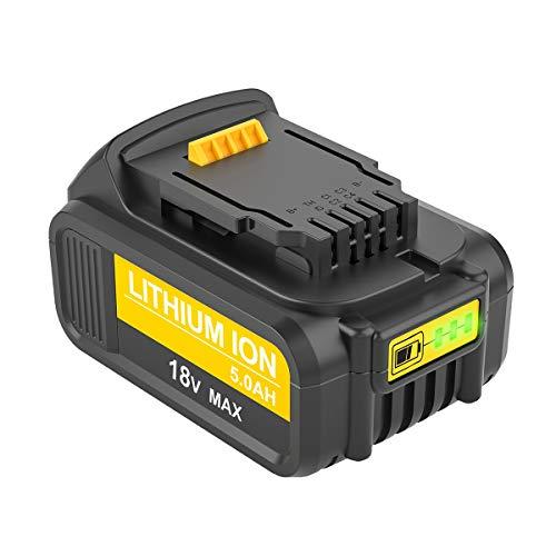 DCB205 5.0Ah 18V MAX XR Repuesto Batería para Dewalt DCB184 DCB200 DCB182 DCB180 DCB181 DCB182 DCB201 para Dewalt 18V baterías