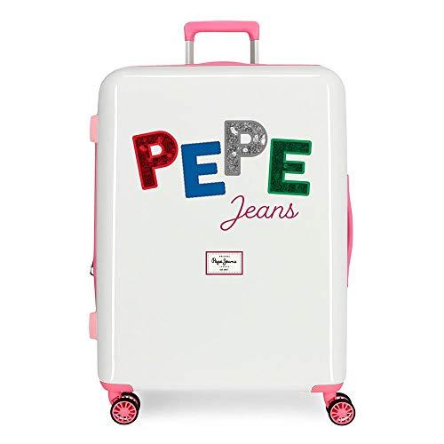 Pepe Jeans Kim Maleta Mediana Multicolor 48x70x26 cms Rígida ABS Cierre TSA Integrado 81L 2 kgs 4 Ruedas Dobles