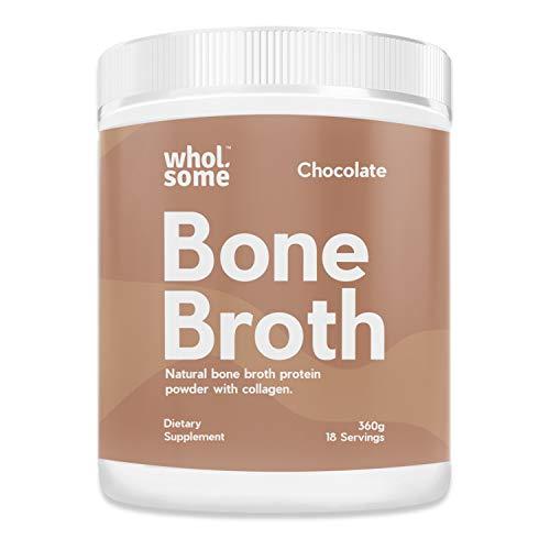 Bone Broth Protein Powder + Collagen - Chocolate, 18 Servings