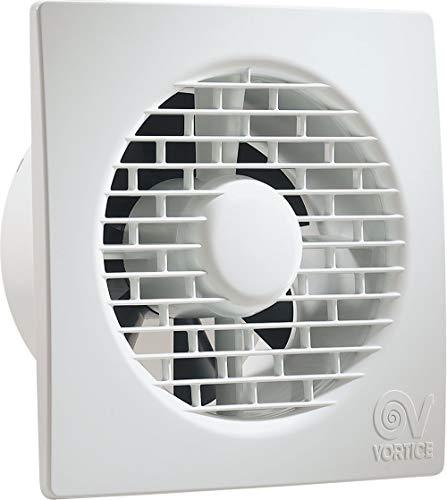 Vortice Aspiratore Elicoidale Da Muro Punto Filo con Timer Elettronico Spegnimento Automatico per ricambio aria bagno (11126 (Diametro Nominale Condotto 90 mm))