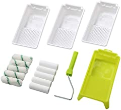 Foam Paint Roller Tray Set,4-Inch Mini Roller Cover Refills with Frame, Paint Tray, Liners, High-Density Foam Small Roller Naps, Bathtub Refinishing Sponge Roller Kit(15Pcs)