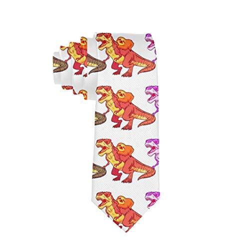 Elegante 100% Polyester Textil Reiten Dinosaurier Krawatte für Männer Jungen formelle Business Hochzeitsfeier...