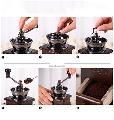 画像/手動(手挽き)コーヒーミルの使用イメージ
