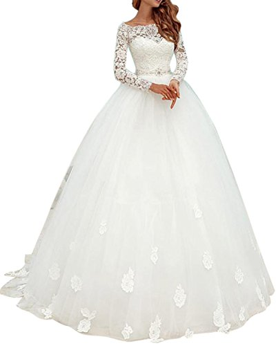 Ethel Appliques Lace Top Ball Gown