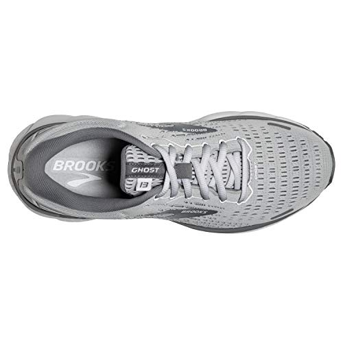 Brooks Womens Ghost 13 Running Shoe - Alloy/Oyster/White - B - 7