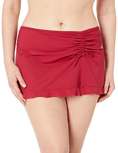 Profile by Gottex Women's Plus-Size Classic Side Tie Skirted Swimsuit Bottom, Tutti Frutti Ruby, 22W