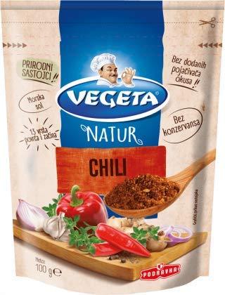 Podravka Vegeta Natur Chili Pikant Würzmischung Mit Gemüse 100 g Beutel