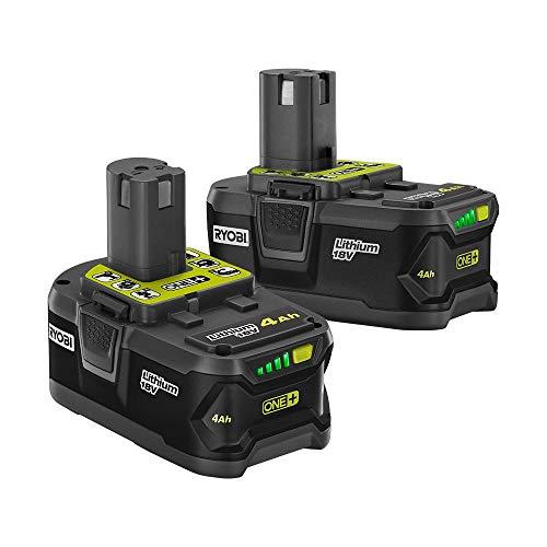 Ryobi 18-Volt ONE+ Lithium-Ion 4.0 Ah High Capacity Battery (2-Pack)