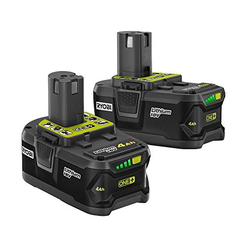 Ryobi P145 18-Volt ONE+ Lithium-Ion Battery Pack 4.0 Ah (2-Pack)