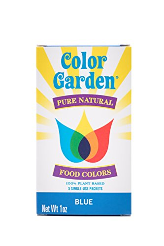 Color Garden Pure Natural Food Colors, Blue 5 ct