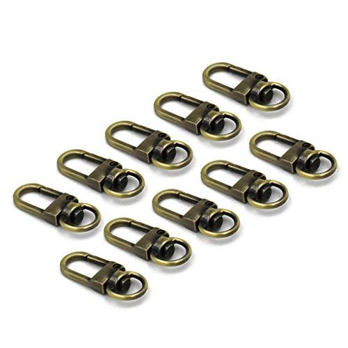Pingdi - 10 hebillas de metal para bolso de mano, hebilla de metal, cierre de cadena, mosquetón giratorio