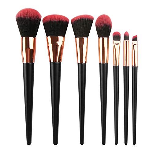 Yaobuyao 12 pcs poignée en Plastique Pinceau de Maquillage avec étui, Premium synthétique Fondation Poudre Correcteurs Ombres à paupières Maquillage Pinceau