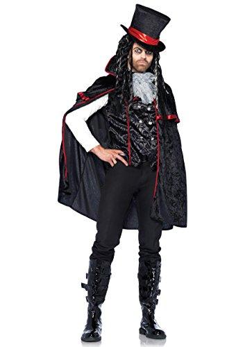 Leg Avenue - 8527002001 - Déguisement pour Adulte - Modèle 85270 - Vampire Classique Costume Set - Taille M - Noir