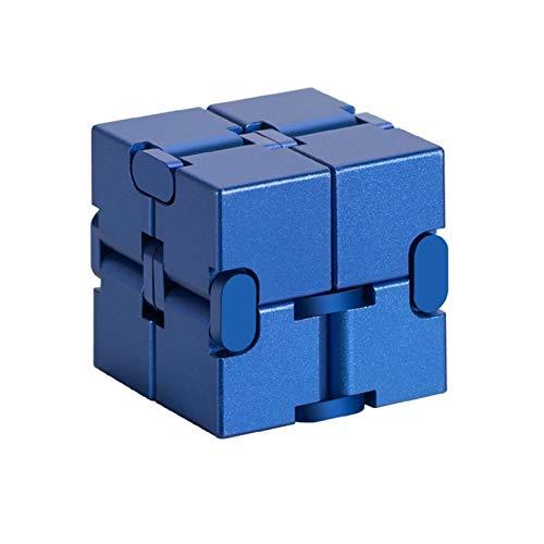 Lecez Infinito Cubo Fidget Juguete Brillante, Mini Juguete de Dedo Fidget para el estrés y el Alivio de la ansiedad y el Tiempo de Muerte, el Juego de inquietud de EDC para niños y Adultos