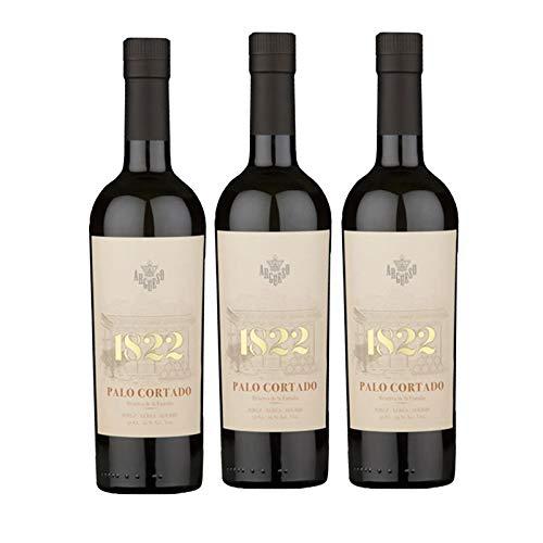 Vino Palo Cortado 1822 de 50 cl - D.O. Jerez-Sherry - Bodegas Argüeso (Pack de 3 botellas)