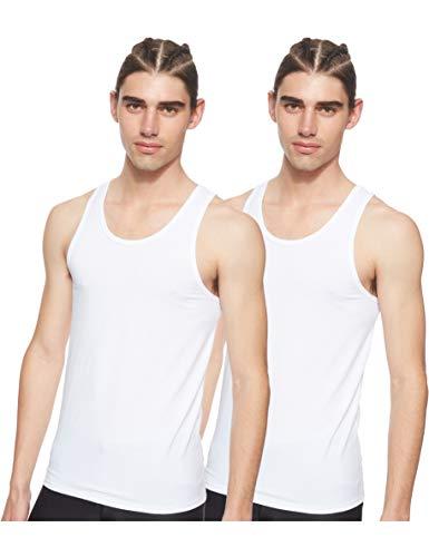 Dim - X-Temp - Maillot de corps - Uni - Lot de 2 - Homme - Blanc (Blanc/Blanc) - X-Large (Taille fabricant: XL)