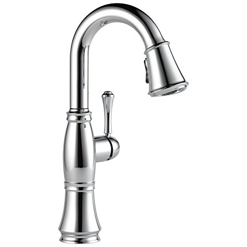 Delta Faucet Cassidy Single-Handle Bar Faucet, Bar Sink Faucet, Prep Sink Faucet with Diamond Seal Technology, Lumicoat Arctic Stainless 9997-AR-PR-DST