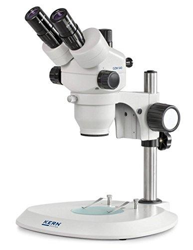 Stereo-Zoom microscoop [Kern OZM 543] Het hoogwaardige voor getrainde gebruikers, tubus: drinokular, oculair: HSWF 10 x Ø23 mm, gezichtsveld: Ø32,8-5,1 mm, objectief: 0,7x - 4,5x, standaard: kolom
